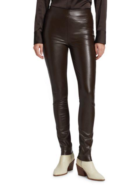 Rag & Bone Nina Faux Leather Pull-On Skinny Pants | SaksFifthAvenue