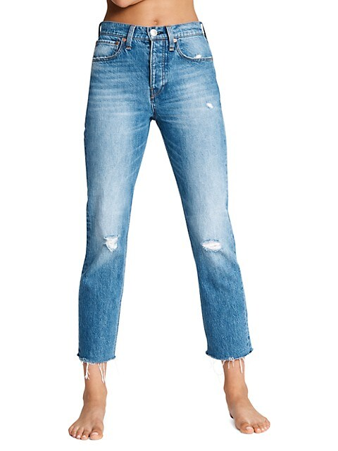 Maya High-Rise Ankle Slim-Fit Jeans