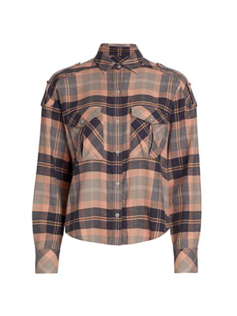 Rag & Bone Cruz Classic-Fit Plaid Shirt   SaksFifthAvenue