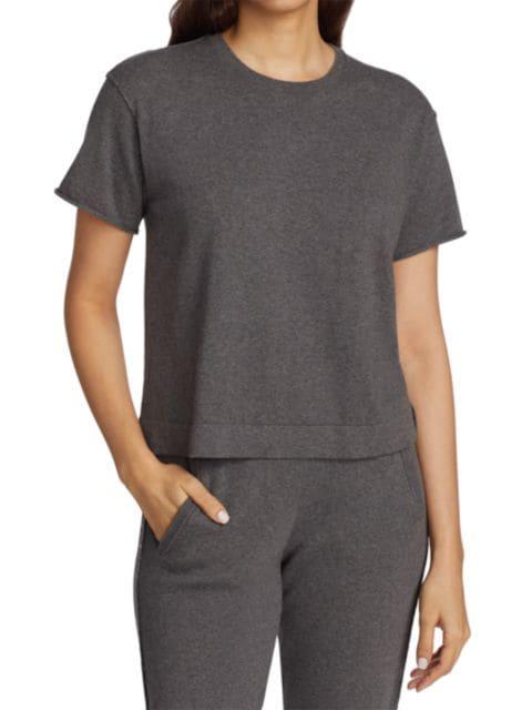 ATM Anthony Thomas Melillo Cotton Cashmere Sweater T-Shirt   SaksFifthAvenue