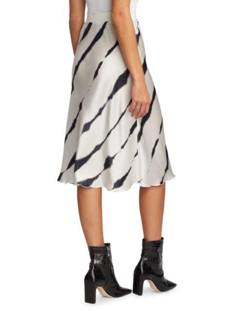 ATM Anthony Thomas Melillo Tie-Dye Silk Charmuese Stripe Slip Skirt   SaksFifthAvenue