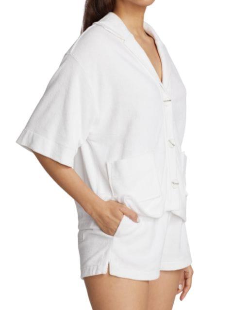 ATM Anthony Thomas Melillo Cropped Pool Shirt | SaksFifthAvenue