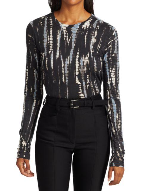Proenza Schouler Tie-Dye Tissue Jersey T-Shirt | SaksFifthAvenue