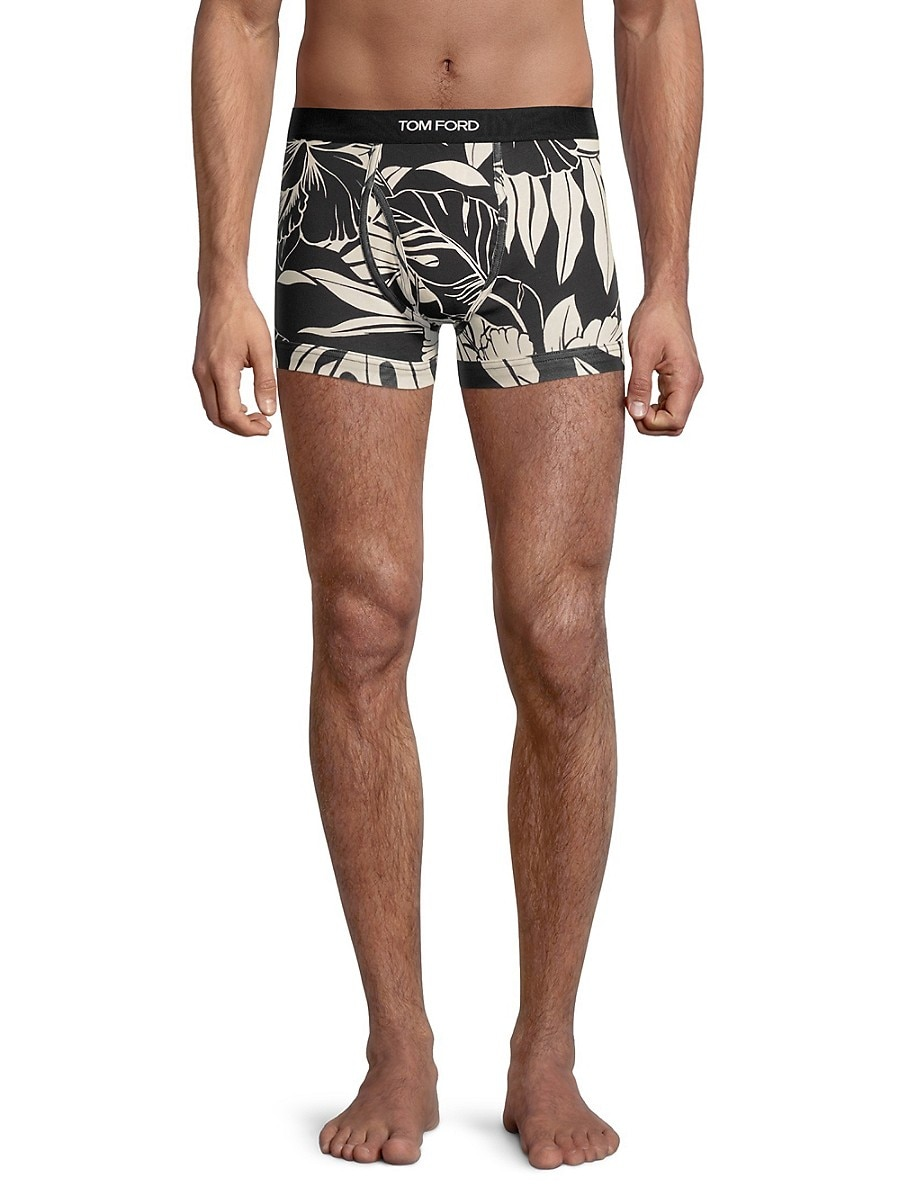 TOM FORD Cottons MEN'S HIBISCUS BOXER BRIEFS
