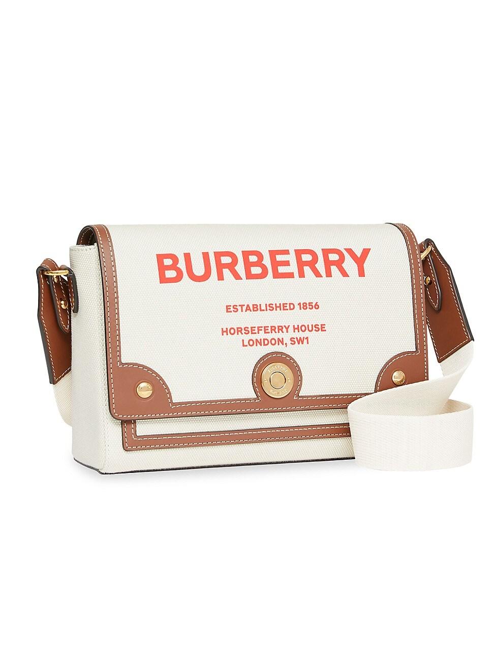 Burberry WOMEN'S MEDIUM NOTE CANVAS CROSSBODY BAG