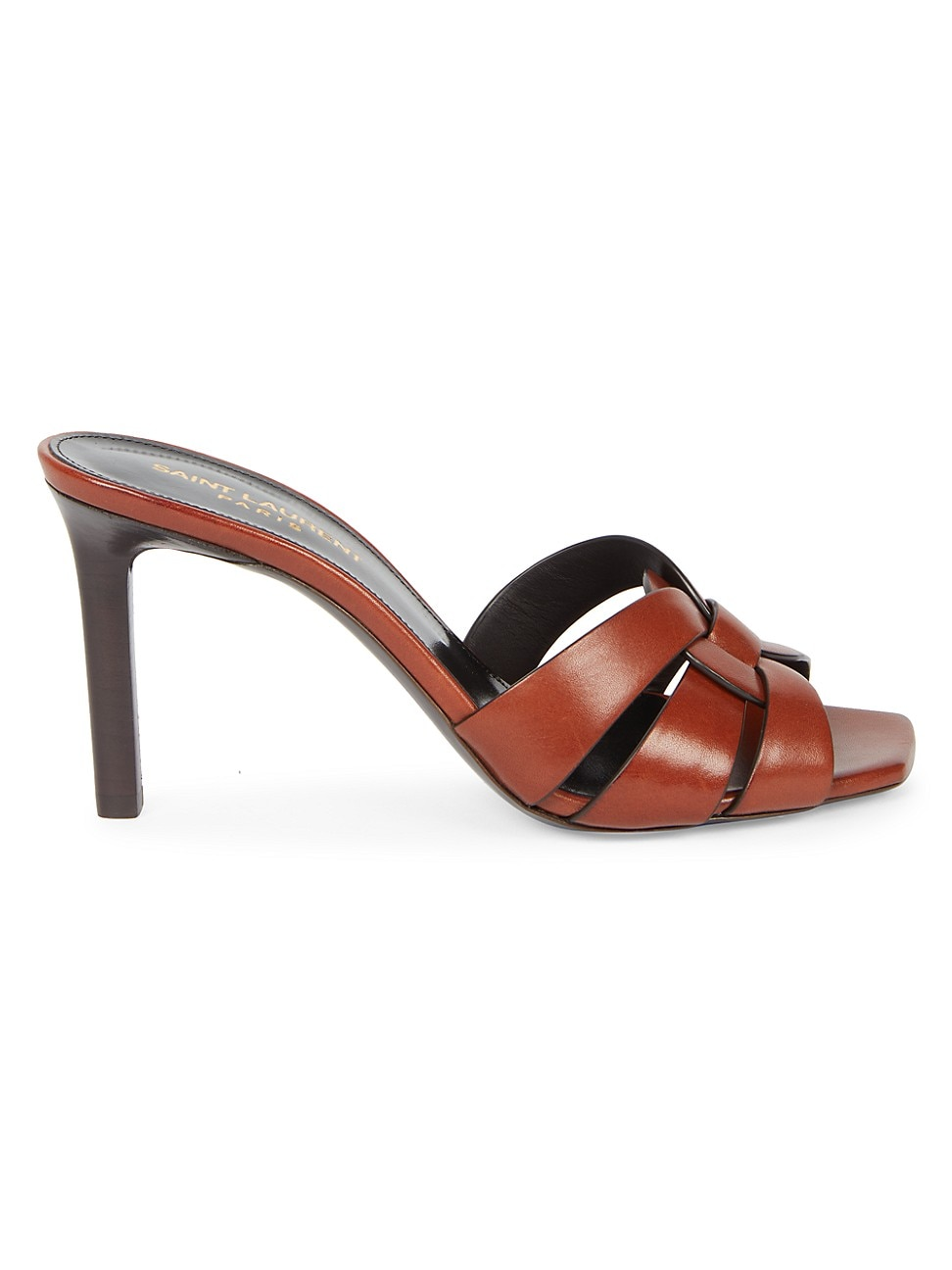 SAINT LAURENT WOMEN'S TRIBUTE LEATHER MULES