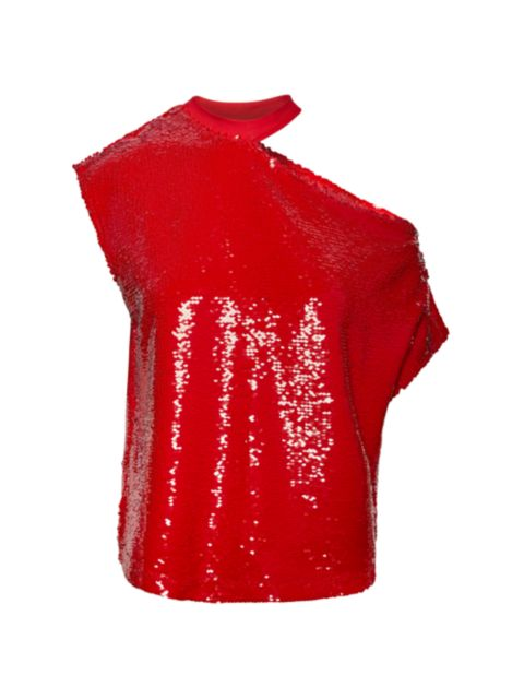 RtA Axel Sparkle Cutout T-Shirt   SaksFifthAvenue