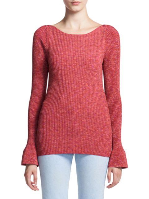 Theory Rib-Knit Long-Sleeve T-Shirt | SaksFifthAvenue