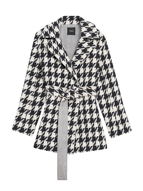 Theory Houndstooth Belted Jacket