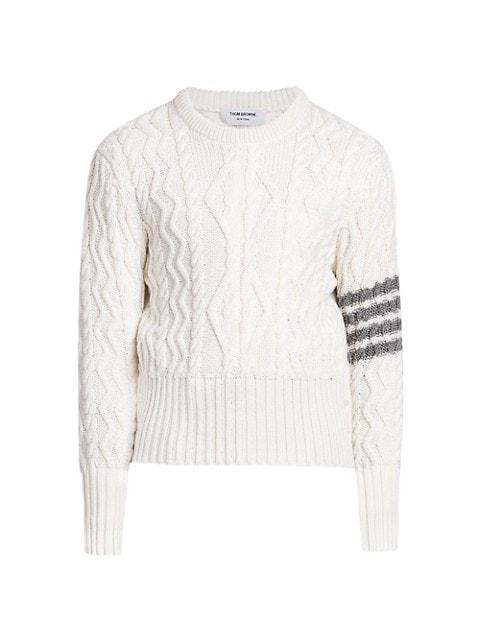Classic Aran Merino Wool Sweater