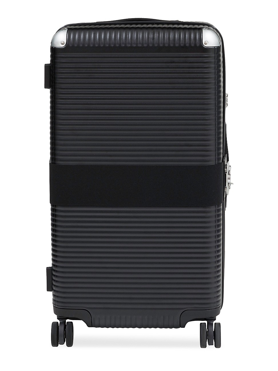 Fpm Bank Trunk On Wheels Suitcase In Eclipse Black