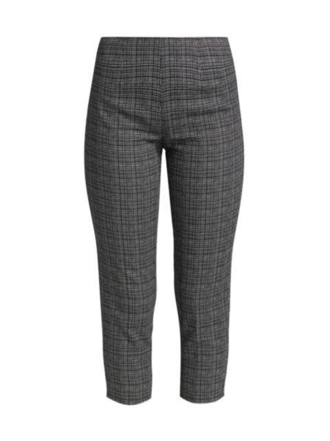 Piazza Sempione Audrey Iconic Micro Pattern Stretch Cotton Trousers | SaksFifthAvenue