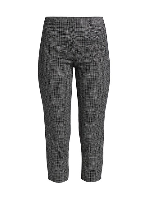 Audrey Iconic Micro Pattern Stretch Cotton Trousers