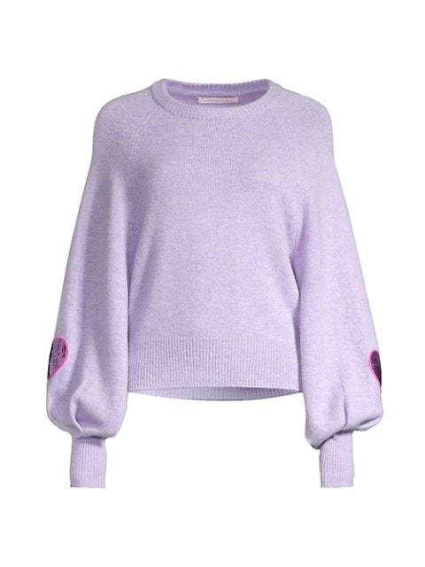 Ashland Sequin Heart Wool-Blend Pullover