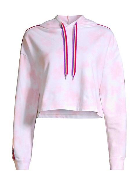 Tie-Dye Cropped Hoodie