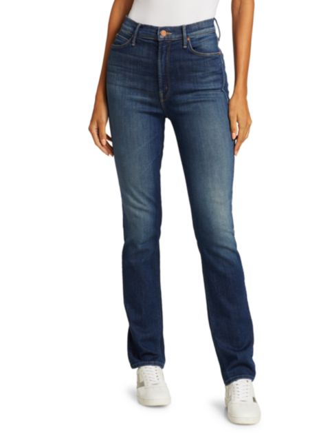 Mother The Dazzler Mid-Rise Straight Jeans   SaksFifthAvenue