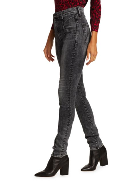Mother The Seamed Swooner Skinny Jeans   SaksFifthAvenue