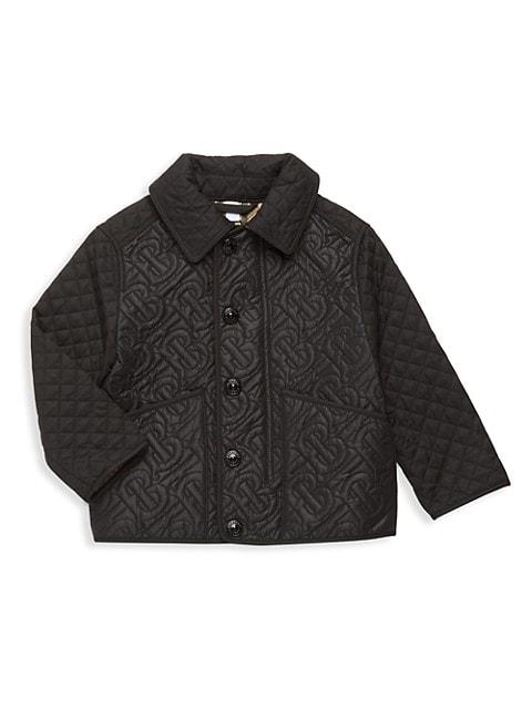 Little Boy's & Boy's Giaden Quilted Monogram Jacket