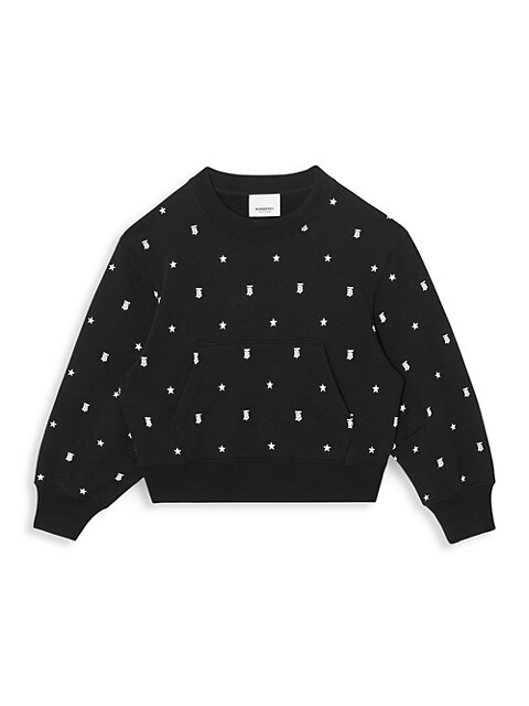 Little Girl's & Girl's Star & Monogram Sweatshirt