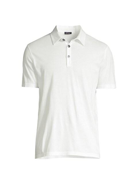Cotton-Blend Polo T-Shirt