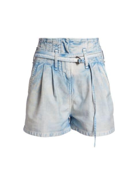 IRO Trab High-Rise Denim Shorts   SaksFifthAvenue