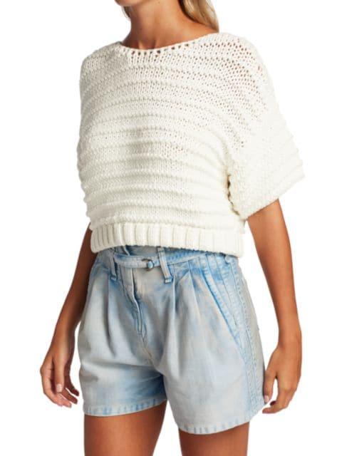 IRO Brianne Knit Cropped Top | SaksFifthAvenue