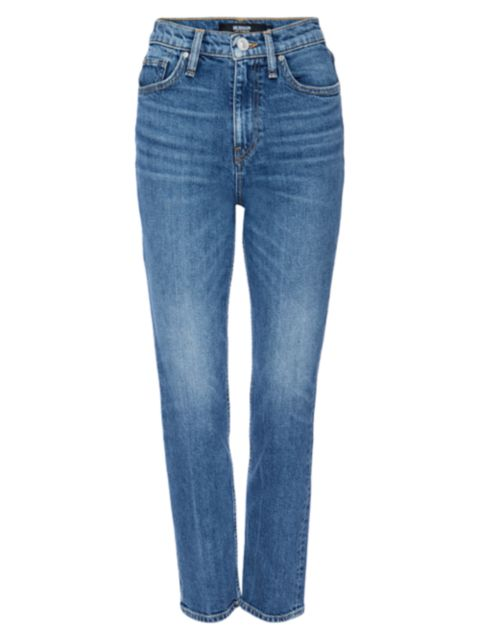 Hudson Holly High-Rise Straight Cropped Jeans   SaksFifthAvenue