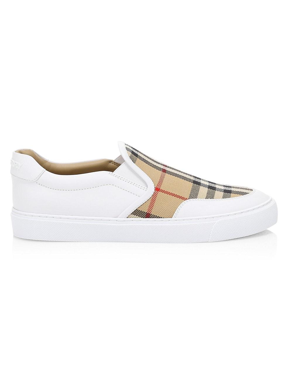 Burberry Salmond Vintage Check Slip-on Sneakers