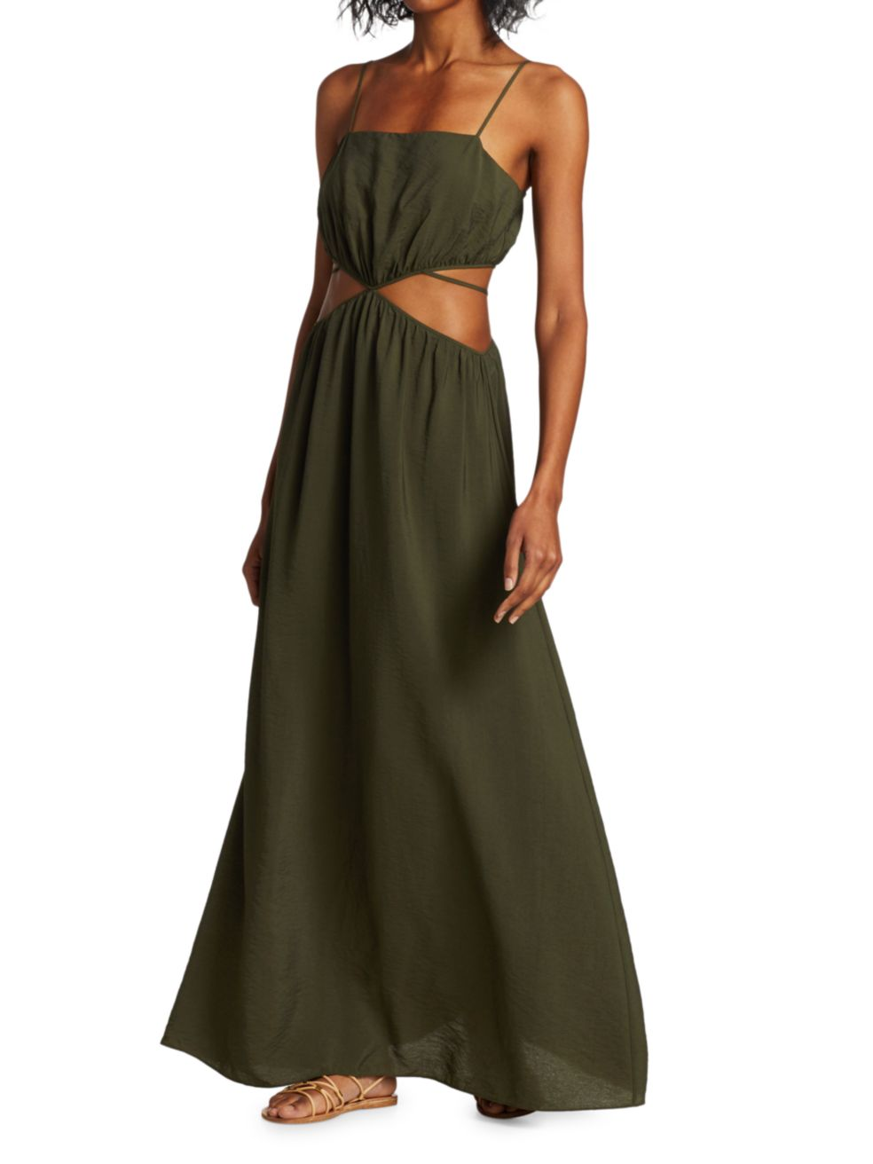 Jonathan Simkhai Amora Strap-Detail Maxi Dress   SaksFifthAvenue