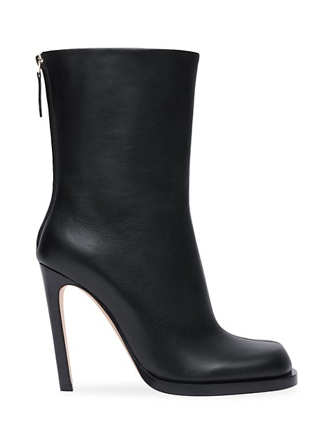 Burberry Square-Toe Leather Boots