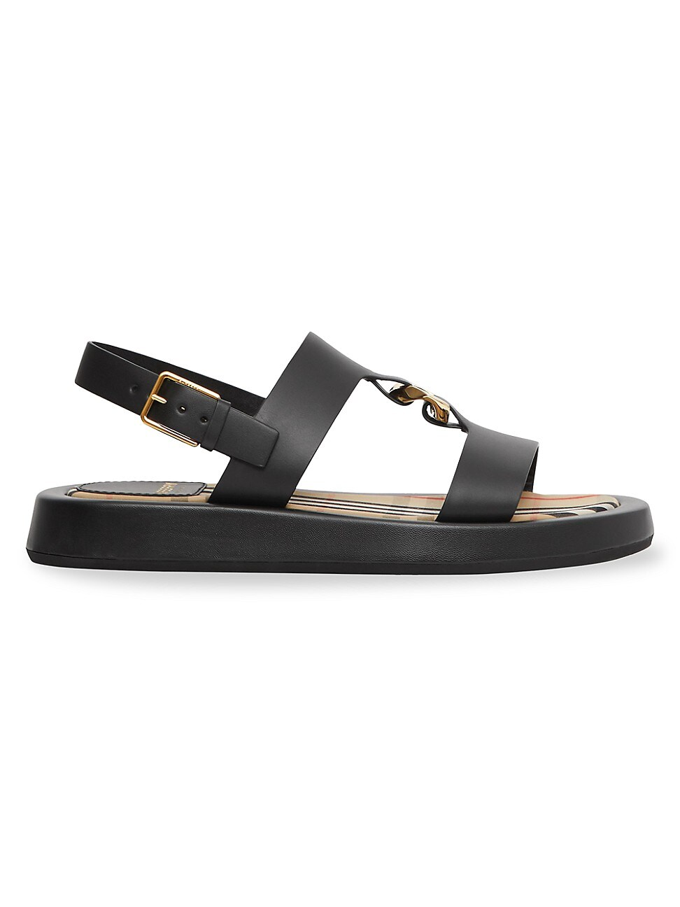 Burberry WOMEN'S BUCKINGHAM LEATHER SLINGBACK SANDALS