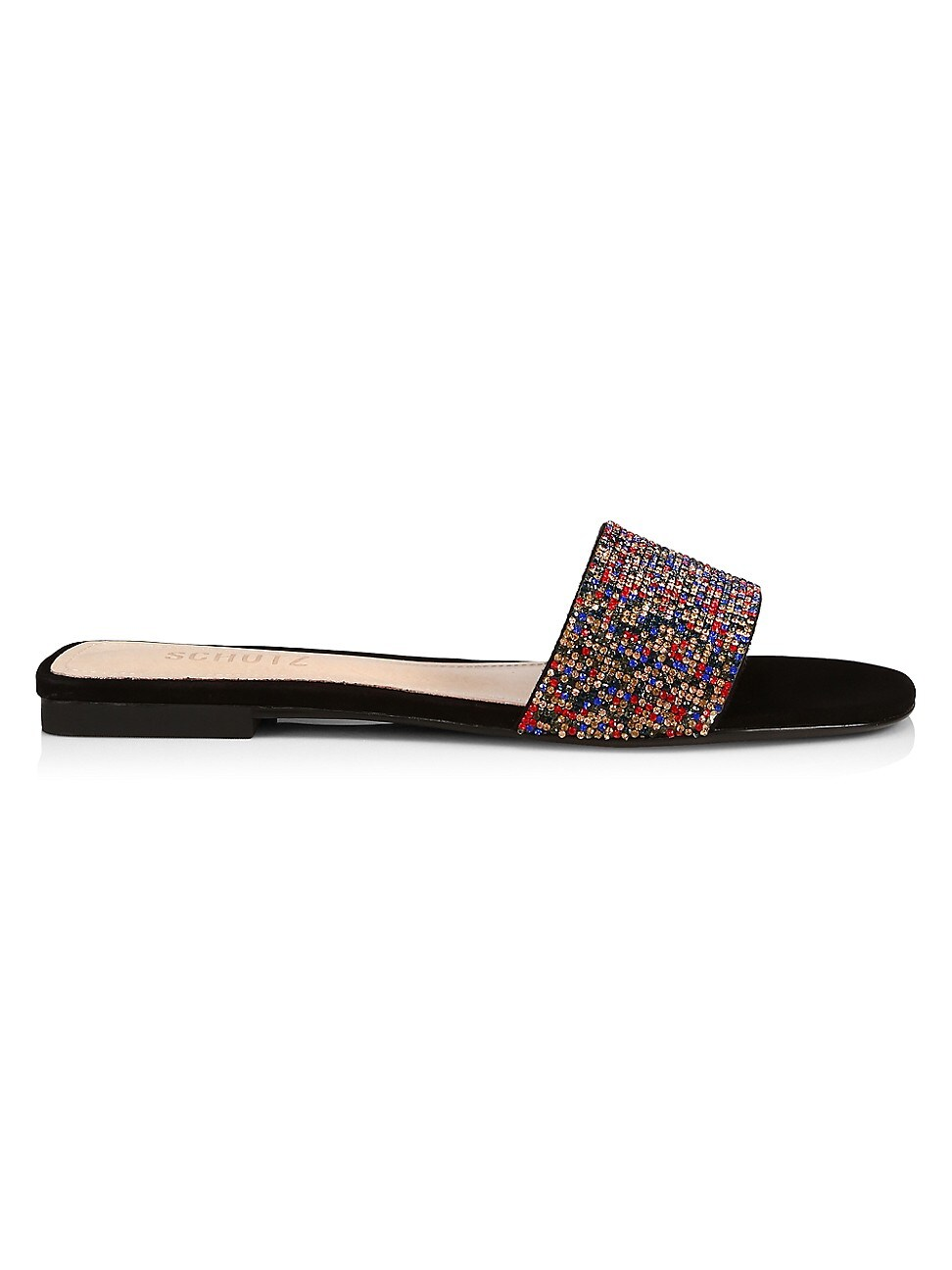 SCHUTZ WOMEN'S ANGELLE EMBELLISHED SUEDE SLIDES