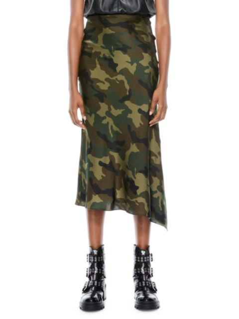 Alice + Olivia Maeve Asymmetrical Slip Skirt | SaksFifthAvenue