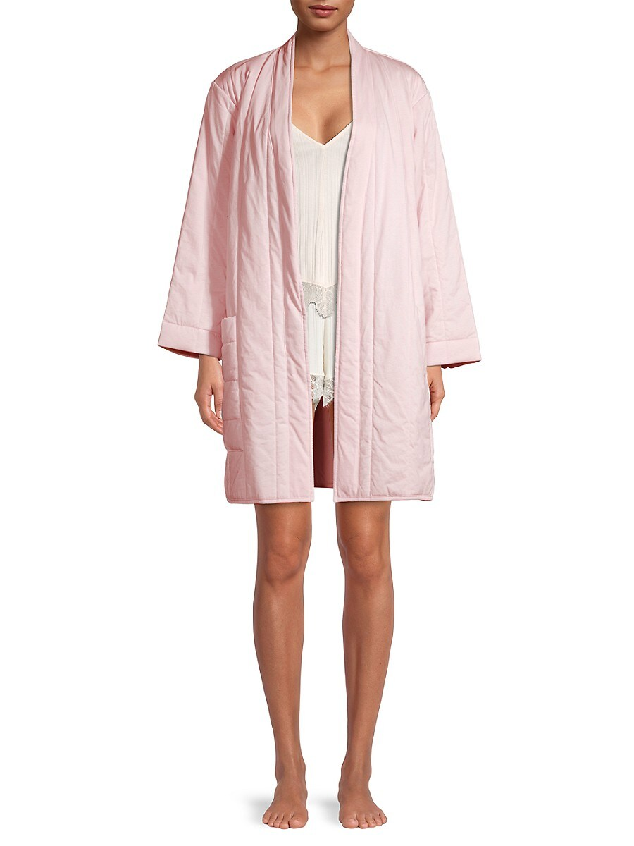 SKIN Cottons WOMEN'S COTTON QUILTED ROBE