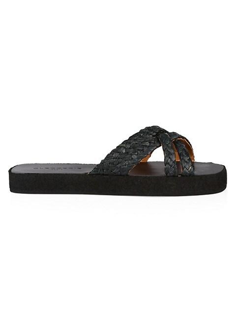 Gael Raffia Flatform Sandals