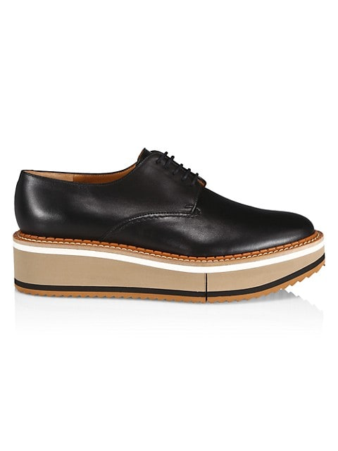 Brook Leather Platform Wedge Derbies