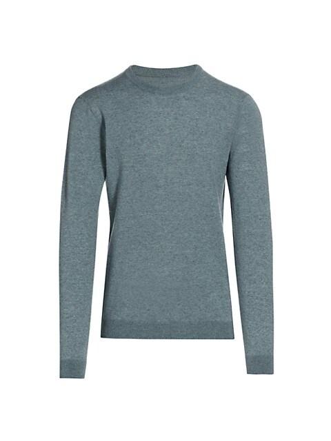 Slim-Fit Melange Crewneck Sweater
