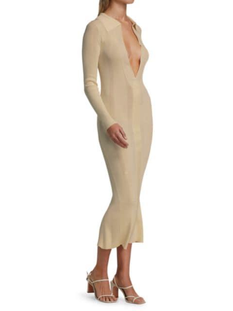 Remain Birger Christensen Joy Deep V-Neck Knit Dress | SaksFifthAvenue