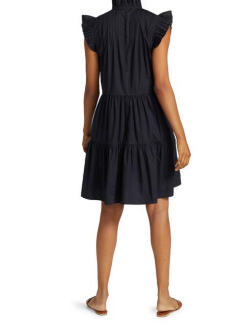 Sea Pleated Flutter-Sleeve Dress | SaksFifthAvenue