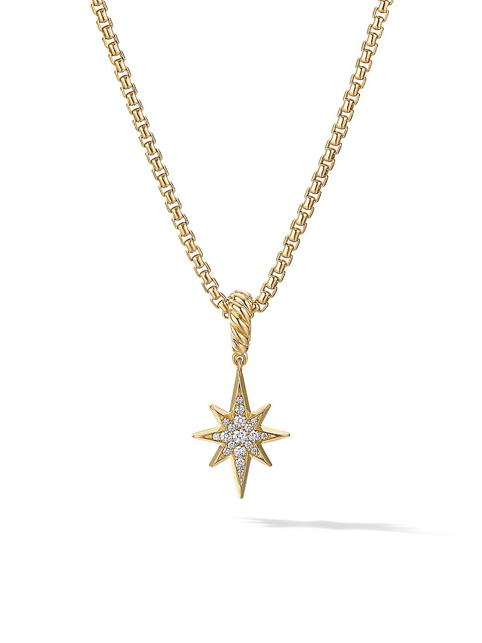 David Yurman Jewelrys WOMEN'S NORTH STAR AMULET IN 18K YELLOW GOLD WITH PAVÉ DIAMONDS