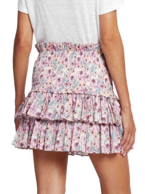 Isabel Marant Etoile Naomi Smocked Ruffle Skirt | SaksFifthAvenue