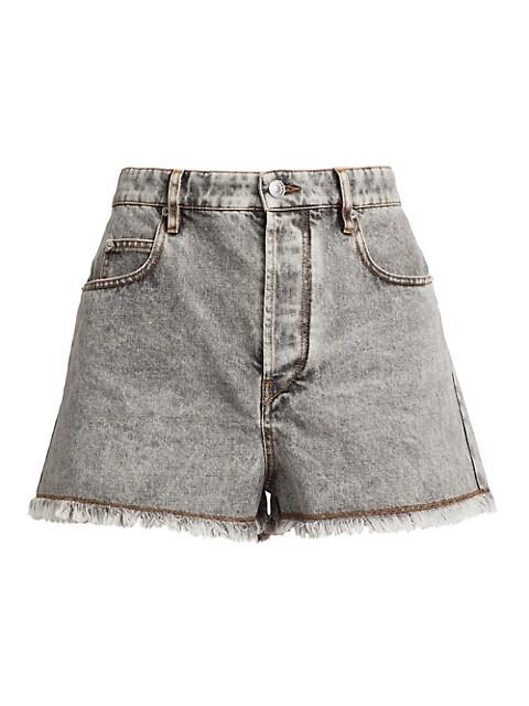 Lesiasr High-Rise Denim Shorts