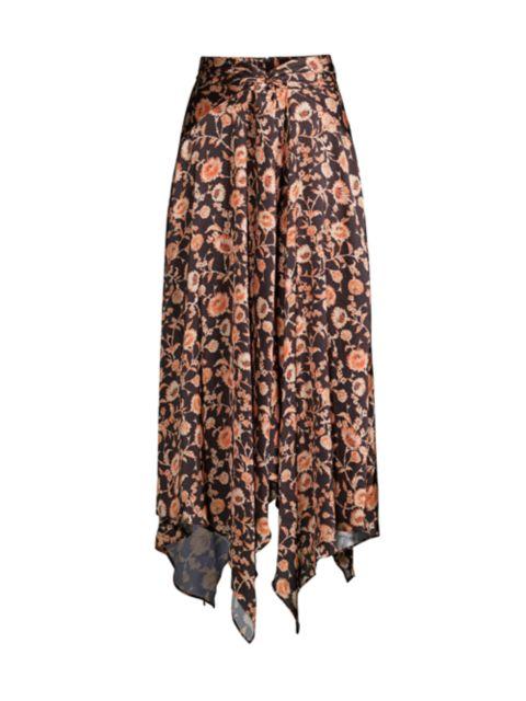 Significant Other Starmist Draped Floral Midi Skirt   SaksFifthAvenue