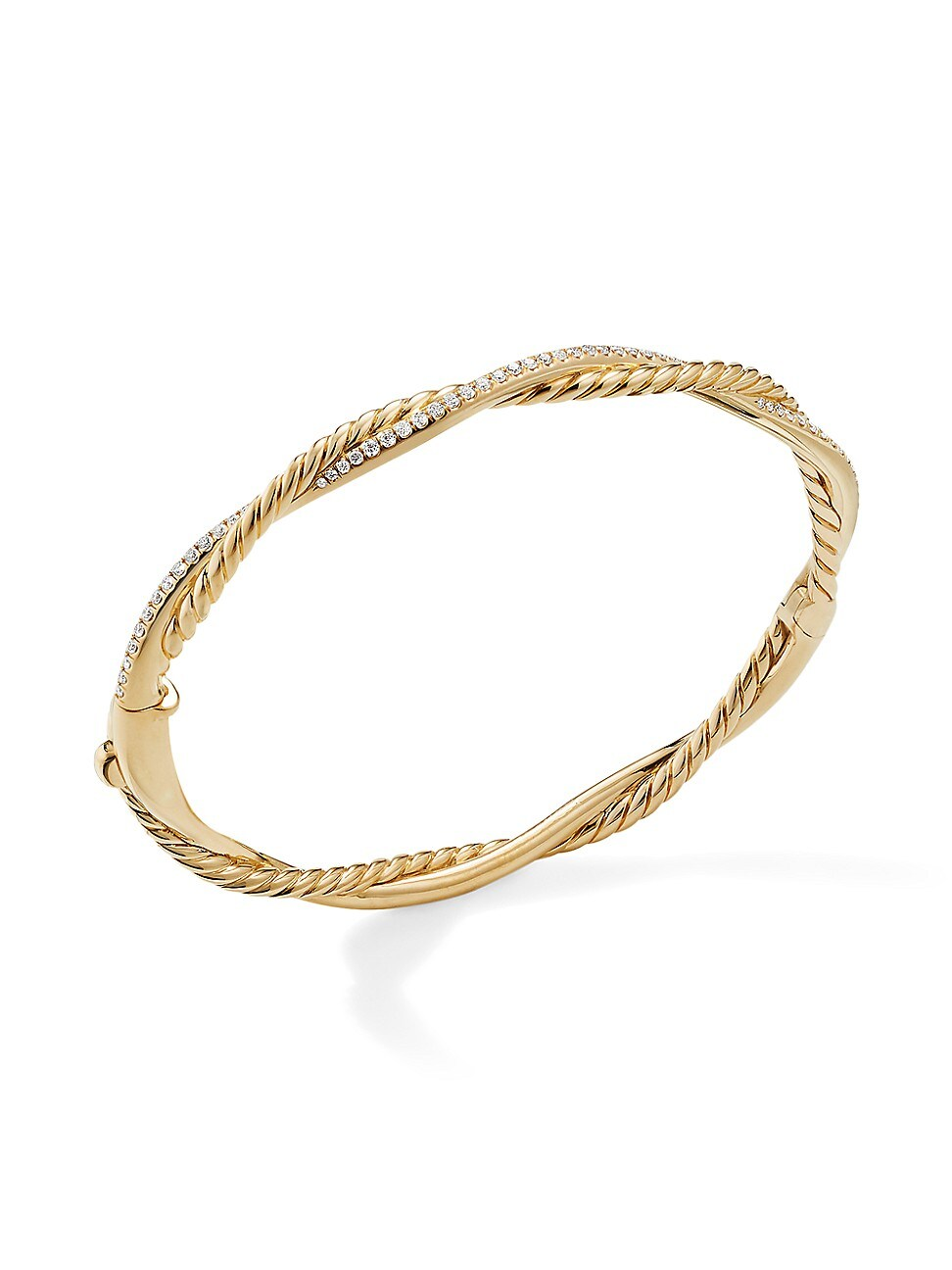 David Yurman Bracelets WOMEN'S PETITE INFINITY BRACELET IN 18K YELLOW GOLD WITH DIAMONDS
