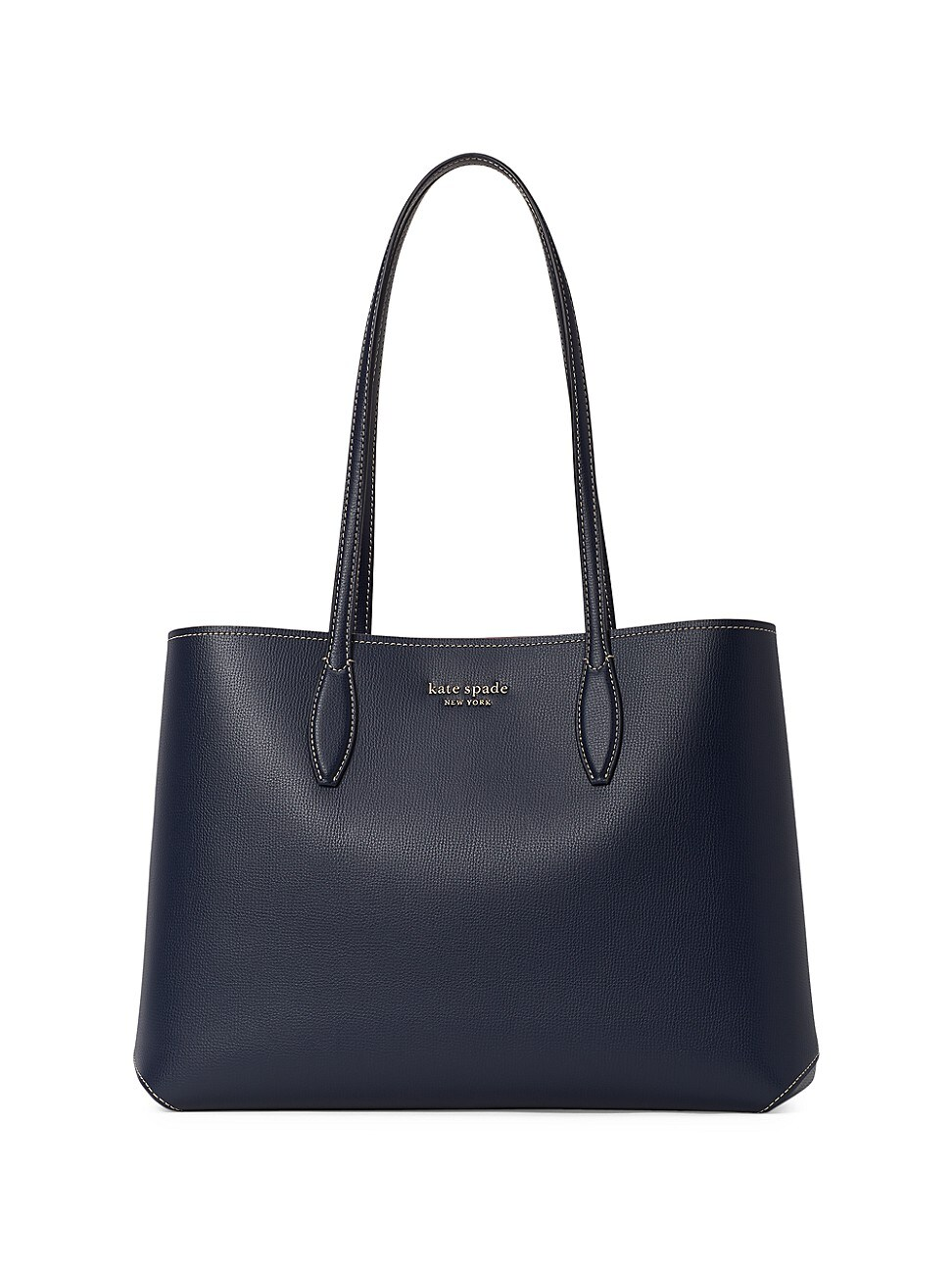 Kate Spade WOMEN'S LARGE ALL DAY LEATHER TOTE - BLUE
