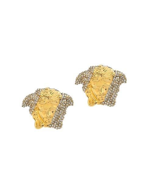 Palazzo Medusa Crystal-Embellished Stud Earrings