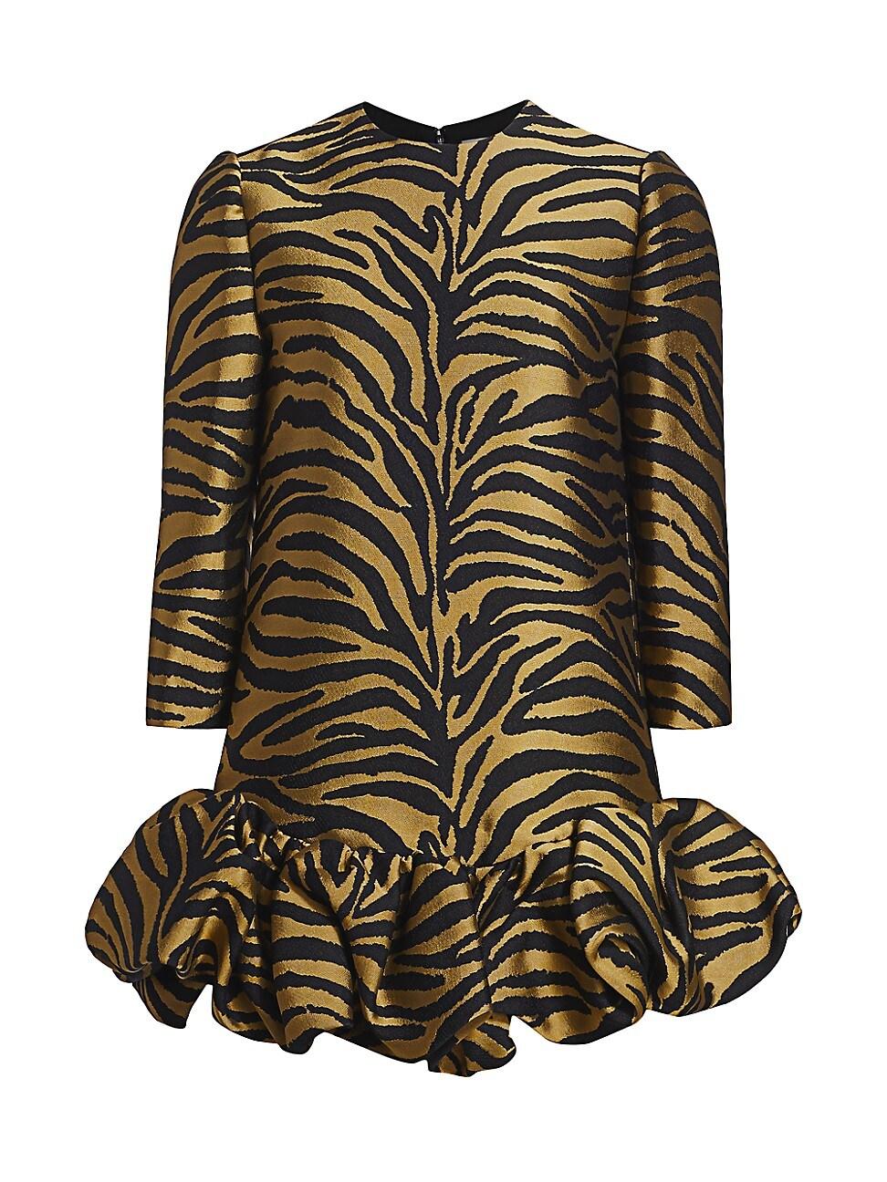 Khaite Mini dresses WOMEN'S LORIE RUFFLE-HEM MINI DRESS