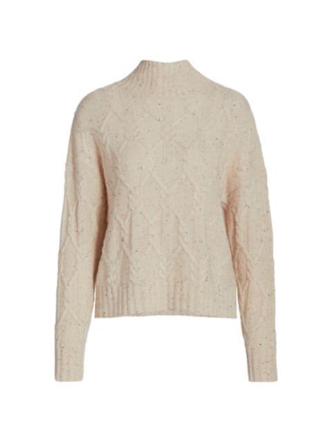 360 Cashmere Miriam Speckle Cashmere Sweater | SaksFifthAvenue
