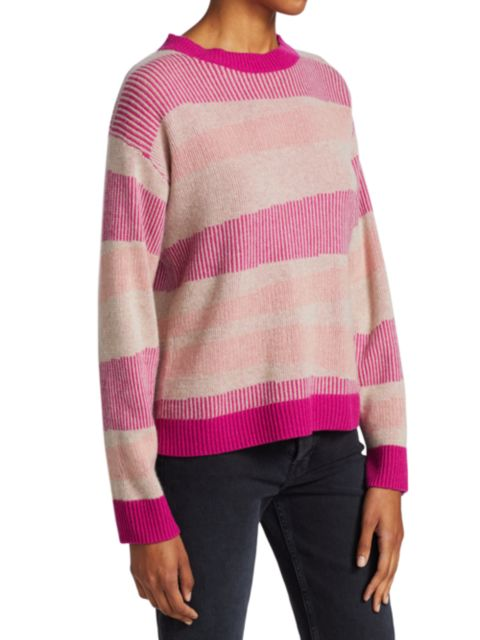 Naadam Swirl Striped Cashmere Sweater   SaksFifthAvenue