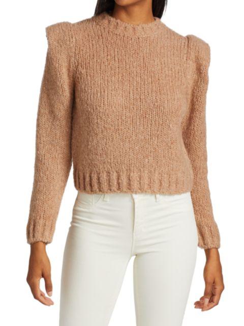 Naadam Puff-Sleeve Sweater   SaksFifthAvenue